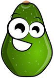 Isolated avocado cartoon Stock Image