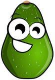 Isolated avocado cartoon Stock Image
