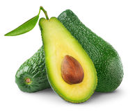 Isolated Avocado Fruits Royalty Free Stock Photography