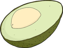 Isolated Avocado Royalty Free Stock Photography