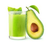Isolated avocado smoothie Stock Images