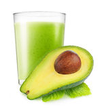Isolated avocado smoothie Royalty Free Stock Photo