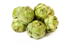 Isolated Baby Artichokes royalty free stock photo