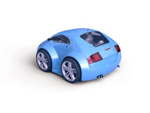 Isolated Baby Coupe Rear View Stock Image