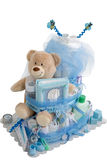 Isolated Baby Diaper Cake Present Stock Image