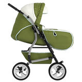 Isolated baby pram Royalty Free Stock Photo