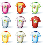 Isolated baby t-shirt set Stock Photos