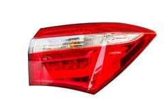 Isolated back car light. Royalty Free Stock Photography