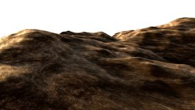 Isolated background of brown clay soil Stock Image