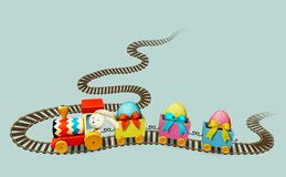 Toy train royalty free illustration