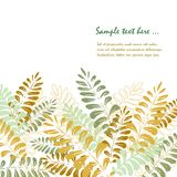 Isolated background with tropical leaves stock illustration