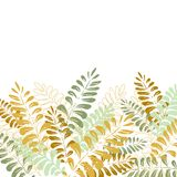 Isolated background with tropical leaves royalty free illustration