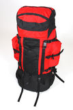 Isolated backpack. Large image of red backpack Royalty Free Stock Image