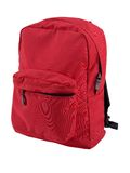 Isolated Backpack. Red backpack expertly outlined and ready to drop into your design. Other angles of this same backpack also available Royalty Free Stock Photography