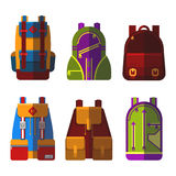 Isolated bag or rucksack, satchel or handbag Stock Photos