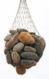 Isolated bag of stones Royalty Free Stock Images