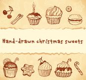 Isolated bakery hand-drawn illustrations set Stock Photo