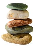 Isolated balancing pebbles Stock Image