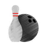 Isolated ball and pin of bowling sport design Stock Image