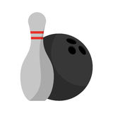 Isolated ball and pin of bowling sport design Royalty Free Stock Photos