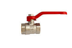 Isolated ball valve with path Stock Photos