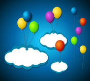 Isolated balloon tags Stock Photography