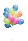 Isolated balloons. Pink, yellow, blue Royalty Free Stock Photo