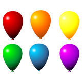 Isolated balloons Stock Photo
