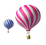 Isolated Balloons. Isolated on white 3d balloons Royalty Free Stock Photography