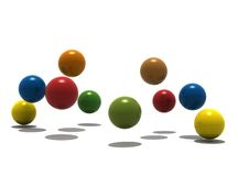 Isolated balls on white background. 3d render Stock Photography