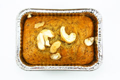 Isolated banana bread Stock Images