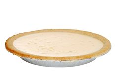 Isolated banana cream pie Royalty Free Stock Photo