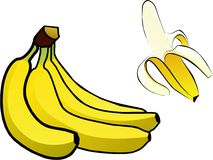 Isolated banana with editable colors Royalty Free Stock Photos