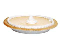 Isolated banana pie with whip cream Royalty Free Stock Photography