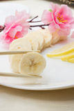Isolated banana Stock Images