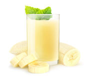 Isolated banana smoothie Stock Photo