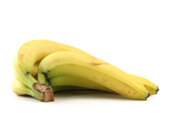 Isolated bananas Stock Photos