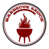 Isolated barbecue label. With a grill icon, Vector illustration Stock Photography