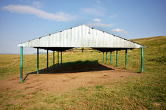 Isolated barn Stock Photo