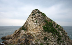 The Isolated barren hills in huizhou daya bay Royalty Free Stock Images