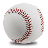 Isolated Baseball. With red stitching on white background (with clipping path Royalty Free Stock Photography