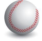 Isolated baseball. Close up picture of a baseball Royalty Free Stock Image