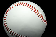 Isolated baseball on a black background. And red stitching baseball Stock Images