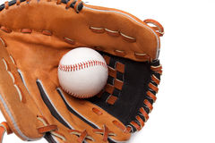 Isolated baseball glove with ball Royalty Free Stock Photography