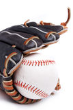 Isolated baseball glove with ball Stock Image