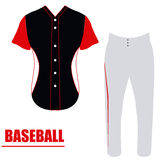 Isolated baseball uniform Stock Image