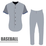 Isolated baseball uniform Stock Photography