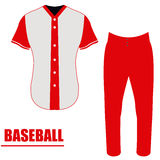 Isolated baseball uniform Stock Photos