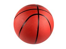 Isolated Basketball. High resolution digital photo of a basketball. Isolated on digital white background. Can be easily incorporated into any design stock image