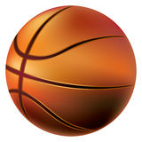 Isolated basketball bal Royalty Free Stock Photography